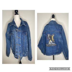 Wrangler Hero Men Vintage Jean Jacket Native 1970